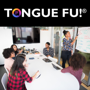 Tongue Fu! Keynote - people working at an office