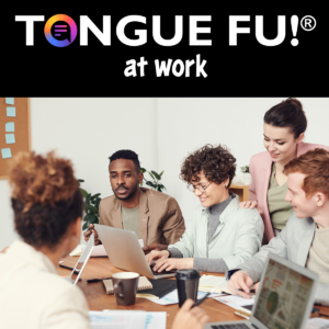 Tongue Fu Keynote - group of people working together